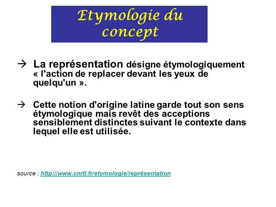 il existe plusieurs modes de représentation: par l action par l image par l abstraction Modes de représentation