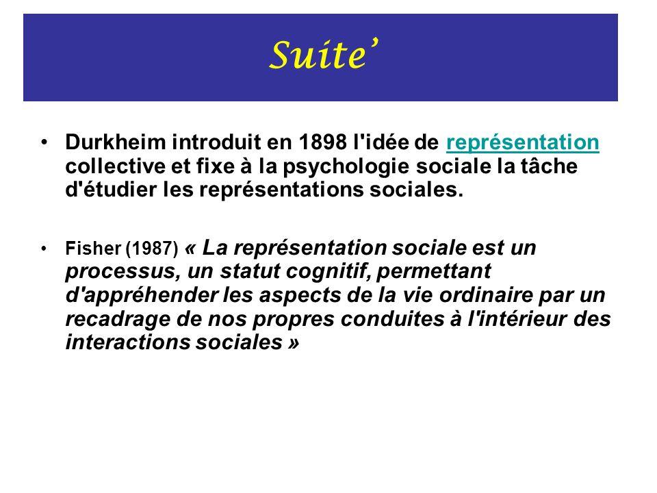 Une représentation mentale ou représentation cognitive est l image qu un individu se fait d une situation.