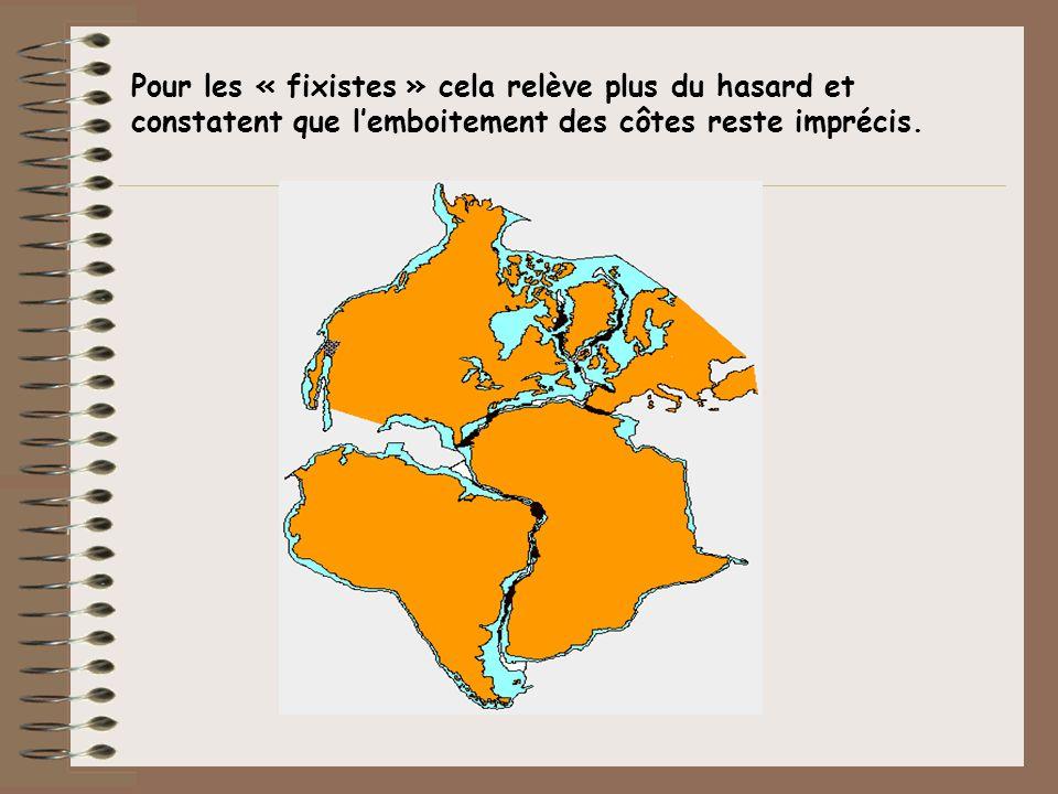 Pour les « fixistes » cela relève plus du hasard et constatent que lemboitement des côtes reste imprécis.