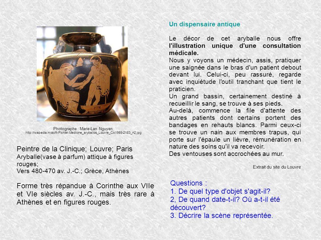 Peintre de la Clinique; Louvre; Paris Aryballe(vase à parfum) attique à figures rouges; Vers 480-470 av. J.-C.; Grèce, Athènes Forme très répandue à C