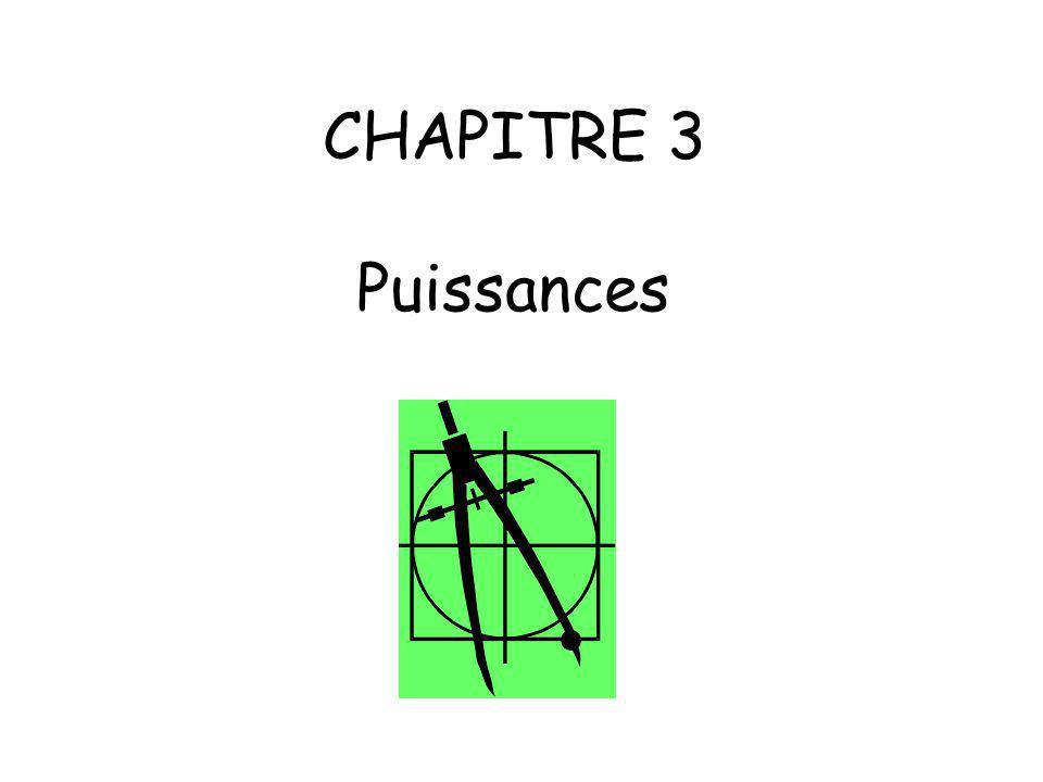 CHAPITRE 3 Puissances