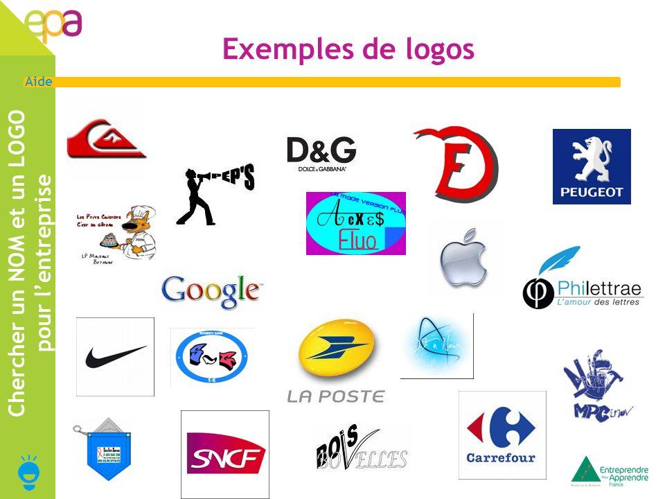 5 Aide Exemples de logos Chercher un NOM et un LOGO pour lentreprise