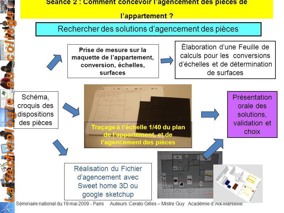 La technologie au collège Auteurs :Cerato Gilles – Mistre Guy Académie d Aix-Marseille: Séminaire national du 19 mai 2009 - Paris Rechercher des solut