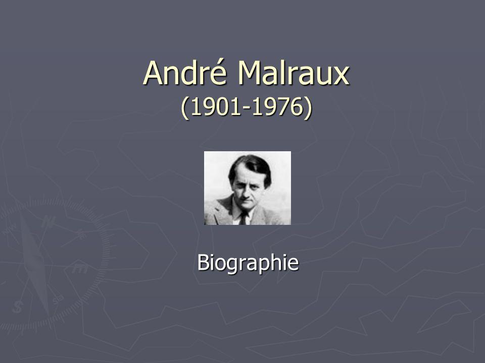 André Malraux, de son vrai nom Georges André Malraux est né à Paris le 3 Novembre 1901.