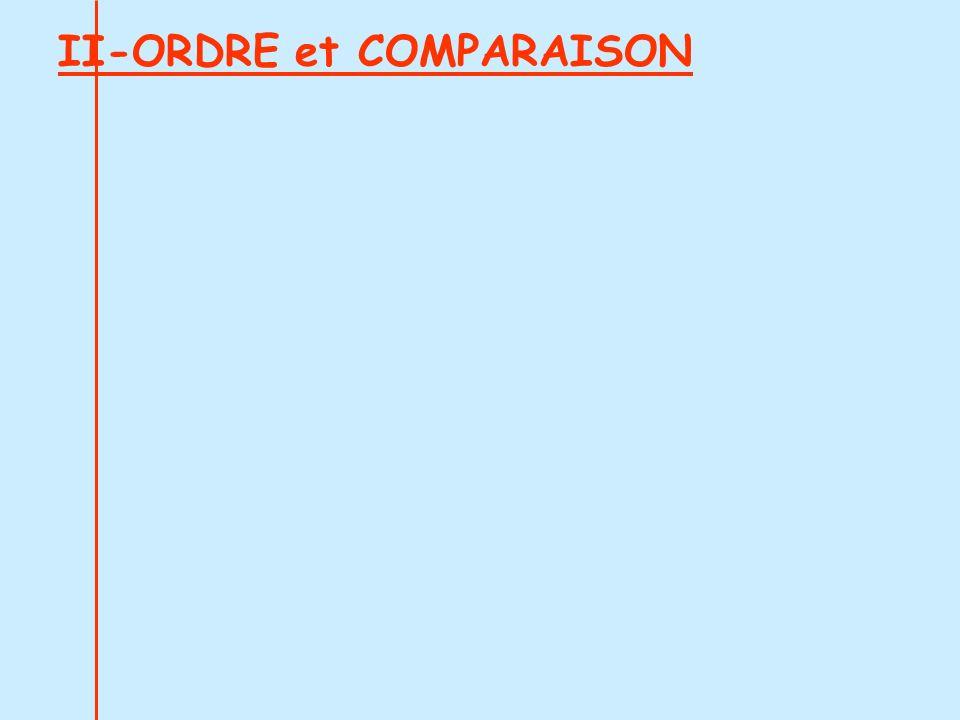 II-ORDRE et COMPARAISON