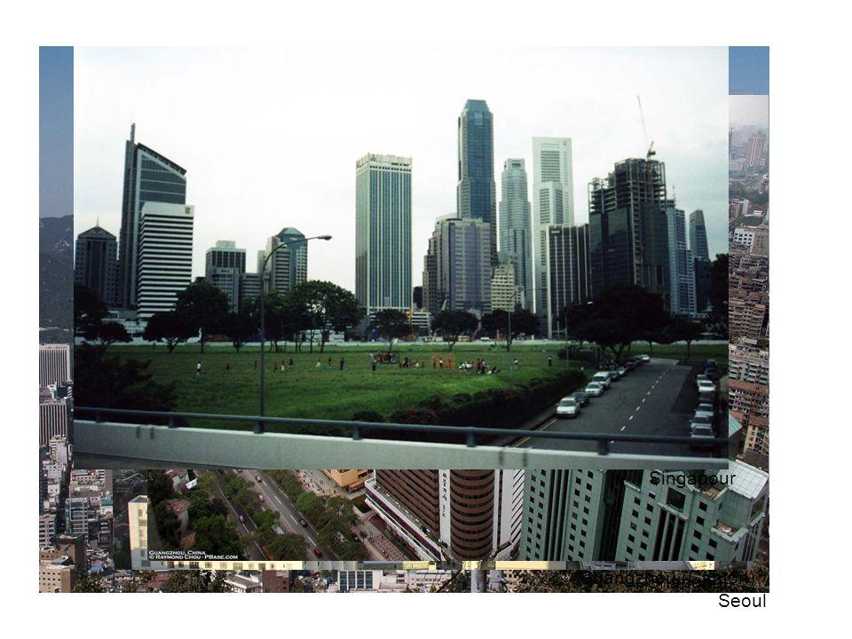 Le goût du futurisme et du gigantisme exprime aussi bien le coût exorbitant du terrain que lorgueil de la réussite… La tour Taipei 101 à Taipei (Taiwan) (508 m), provisoirement la plus haute du monde