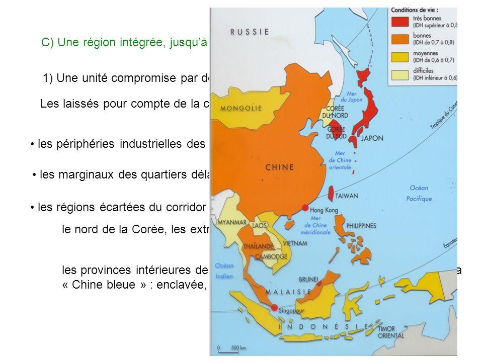 C) Une région intégrée, jusquà quel point ? 1) Une unité compromise par des inégalités croissantes Les laissés pour compte de la croissance : les péri