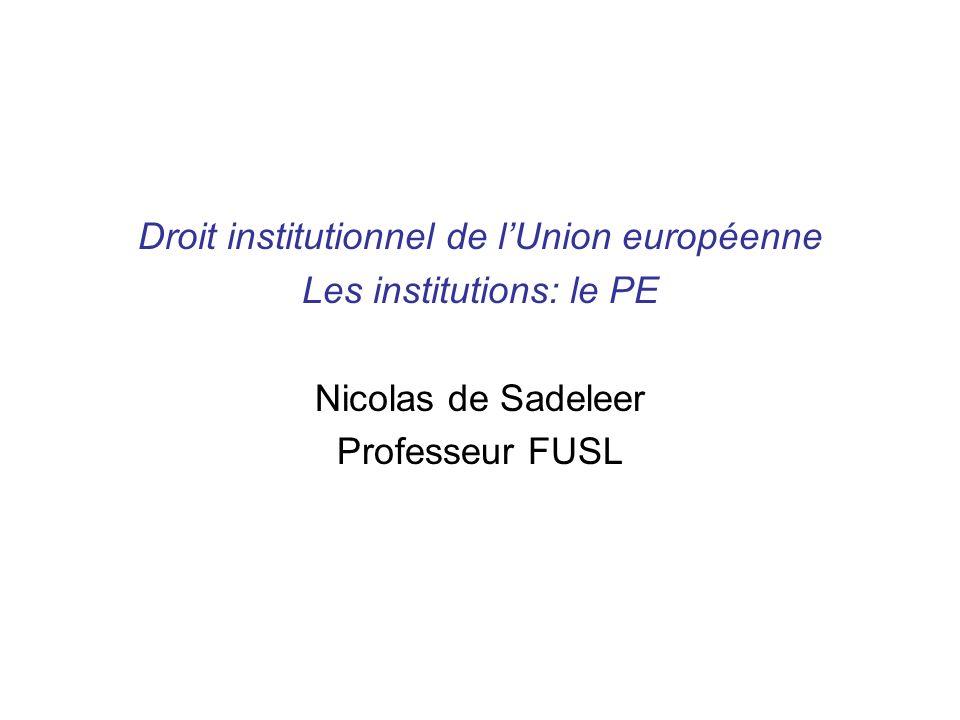 Traité de Lisbonne Le PE comptera 751 députés comme prévu par lart.14, §2 TUE ) La répartition des sièges entre les 27 Etats membres nest pas réglée par les traités.