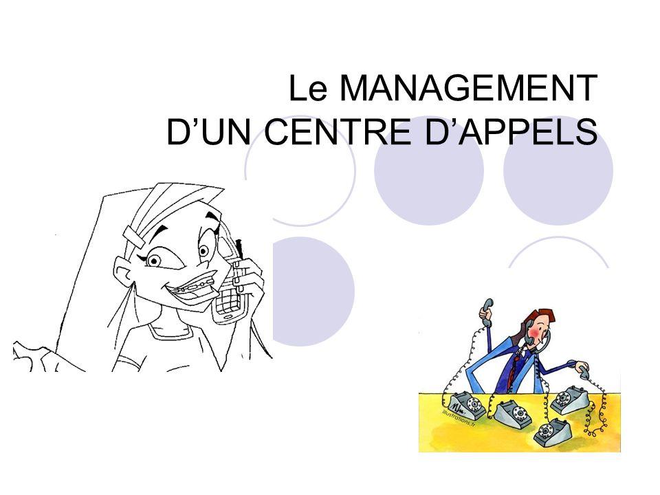 Le MANAGEMENT DUN CENTRE DAPPELS