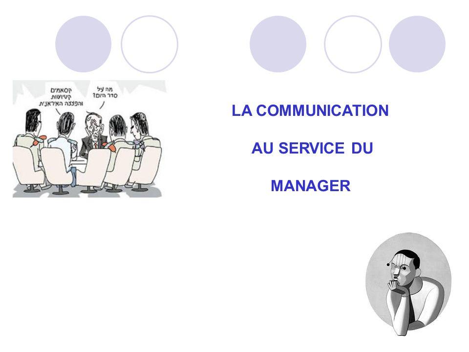 LA COMMUNICATION AU SERVICE DU MANAGER