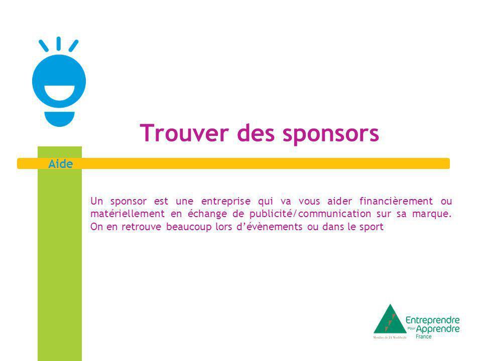 2 Aide Un sponsor .