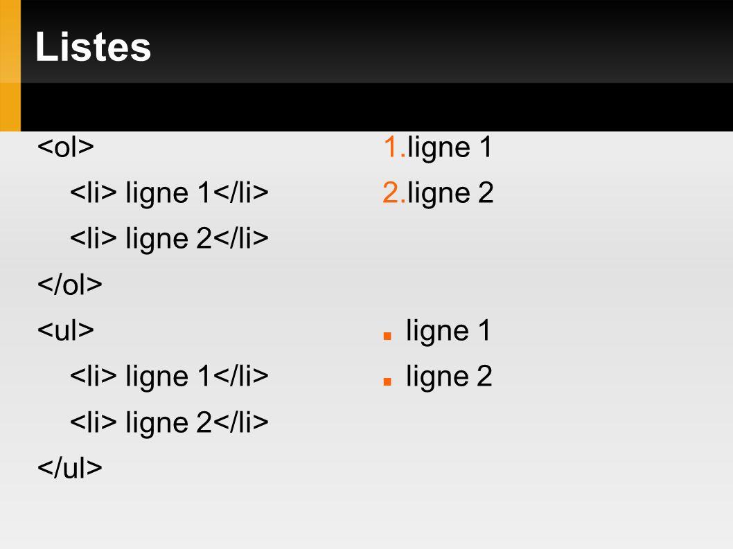 Listes ligne 1 ligne 2 ligne 1 ligne 2 1.ligne 1 2.ligne 2 ligne 1 ligne 2