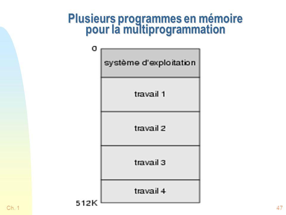 Ch. 147 Plusieurs programmes en mémoire pour la multiprogrammation