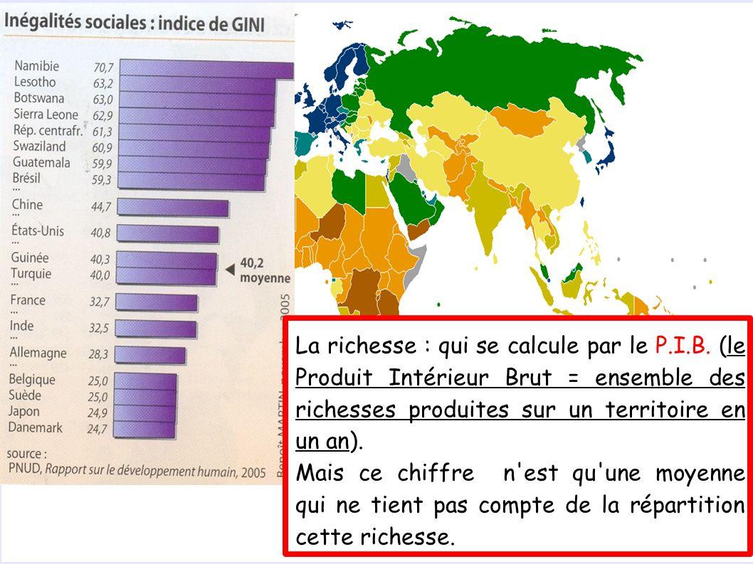 La richesse : qui se calcule par le P.I.B.