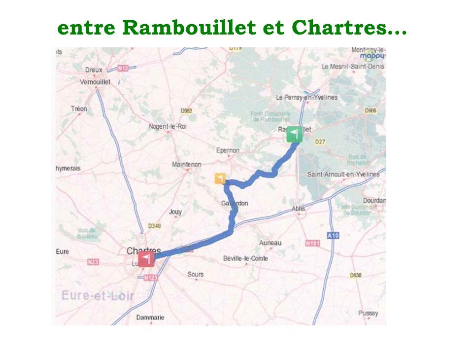 entre Rambouillet et Chartres…