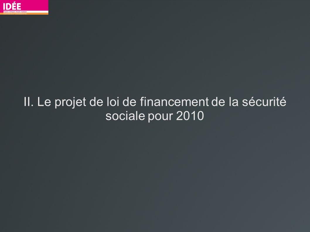 II. Le projet de loi de financement de la sécurité sociale pour 2010