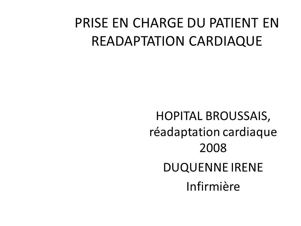 PRESENTATION STRUCTURE: ouverte depuis 1981 Hospitalisation, lits durgence et ambulatoire 800 patients par an, DMS: 18j Pathologies: coronariens, valvulaires, insuffisants cardiaques Prise en charge globale, pluridisciplinaire Critères de lOMS 2