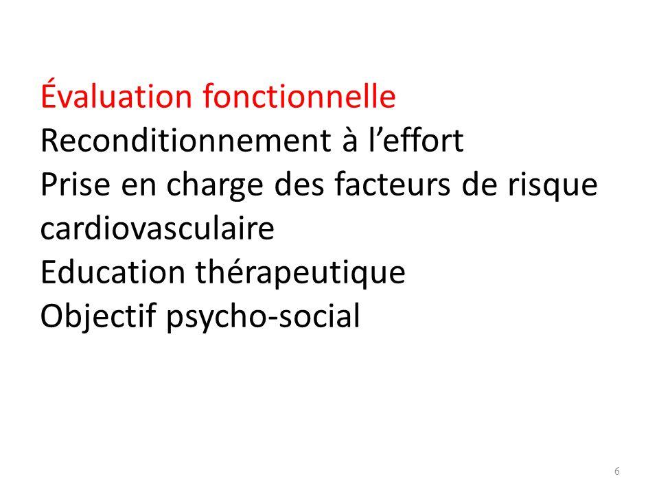 OBJECTIFS MEDICAUX Lévaluation médicale repose sur: Les test biologiques Les examens complémentaires (épreuve deffort/ VO2) La fréquence cardiaque est calculée FMT (220 – âge) pour déterminer la FCE 7