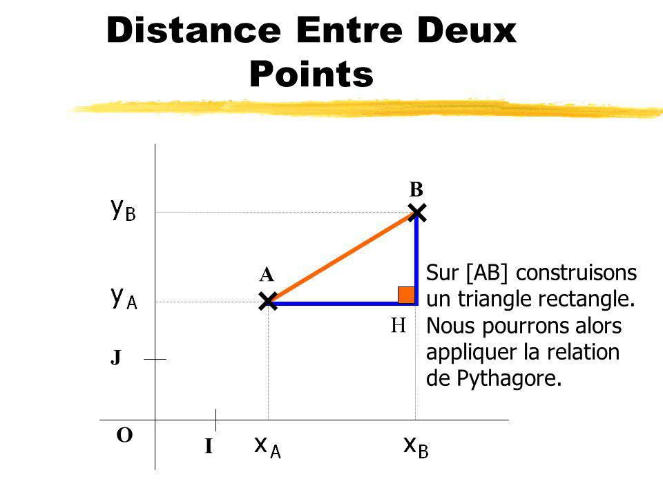 Distance Entre Deux Points O I J A B Sur [AB] construisons un triangle rectangle.