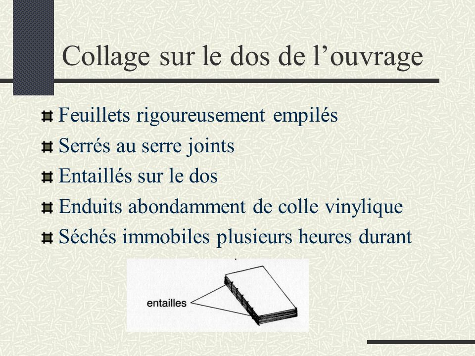 Contre charnière en gainage Codage Carton Gainage Cartoline