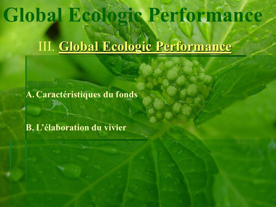 Global Ecologic Performance Global Ecologic Performance III.