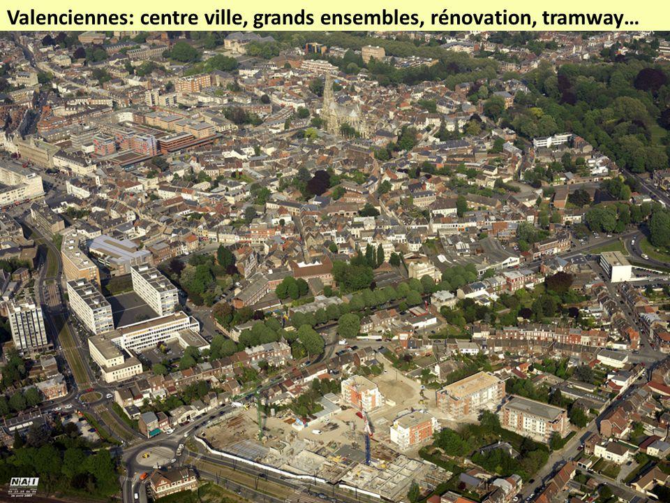 Valenciennes: centre ville, grands ensembles, rénovation, tramway…