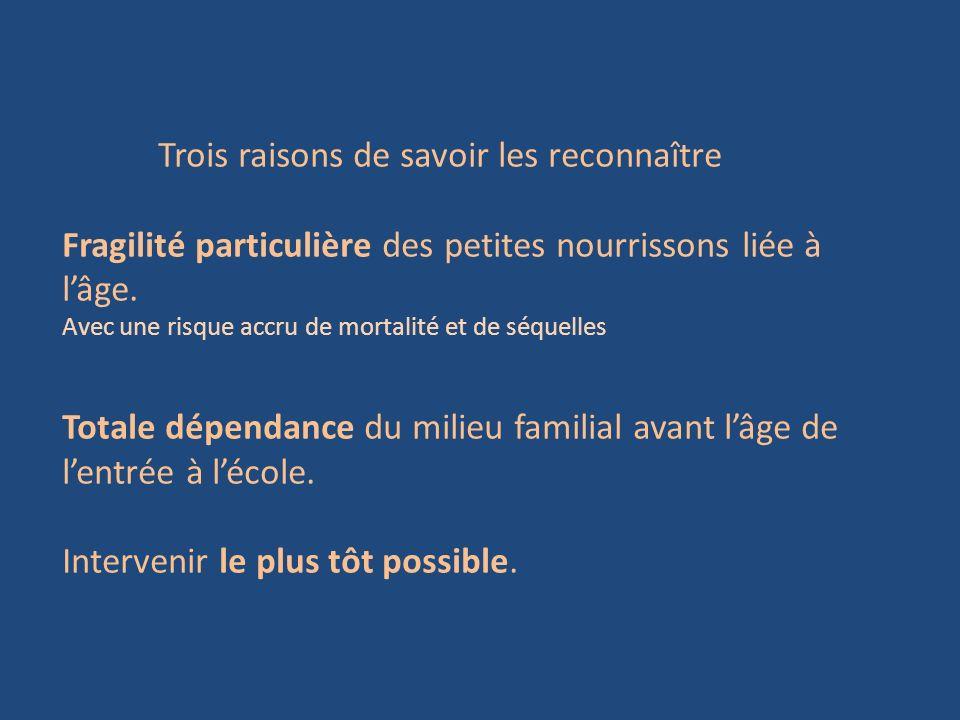 Trois raisons de savoir les reconnaître Fragilité particulière des petites nourrissons liée à lâge. Avec une risque accru de mortalité et de séquelles