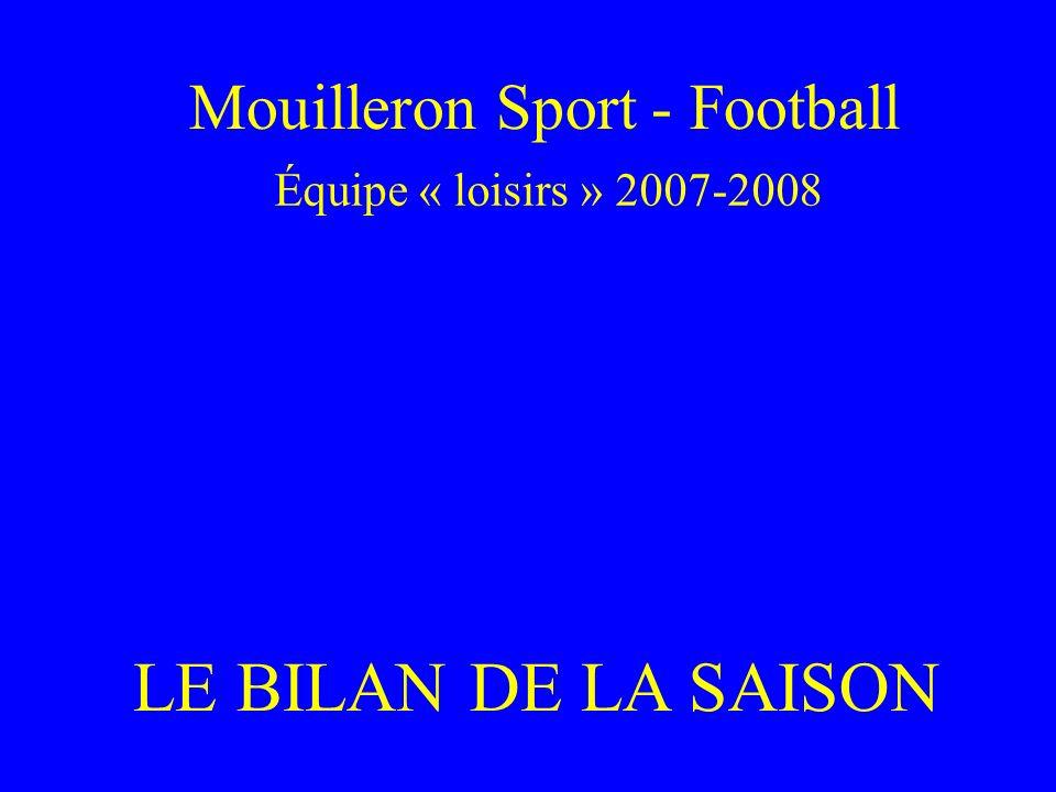 Mouilleron Sport - Football Équipe « loisirs » 2007-2008 LE BILAN DE LA SAISON
