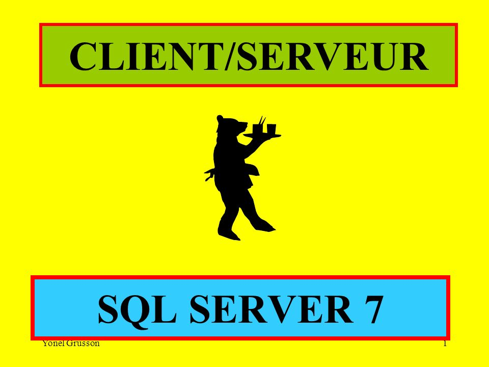 Yonel Grusson1 SQL SERVER 7 CLIENT/SERVEUR