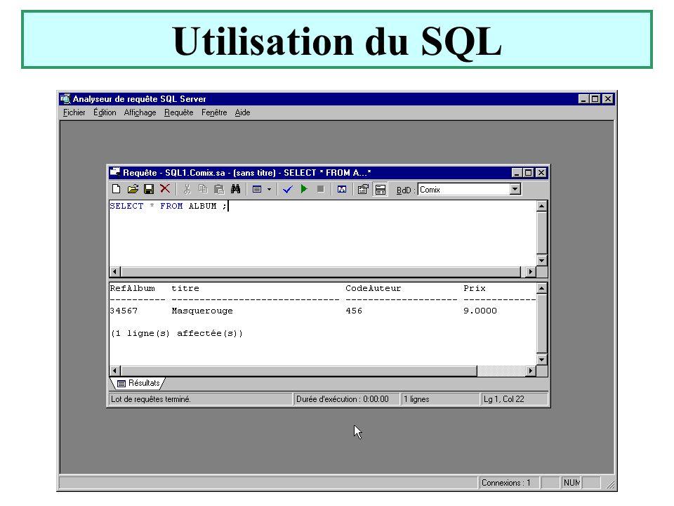 Yonel Grusson31 Utilisation du SQL