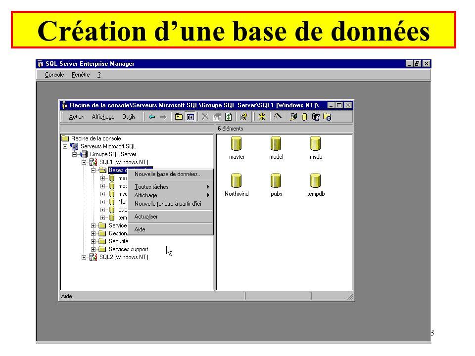 Yonel Grusson33 Création dune base de données