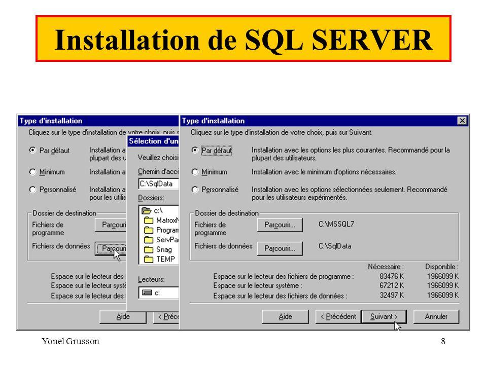 Yonel Grusson8 Installation de SQL SERVER