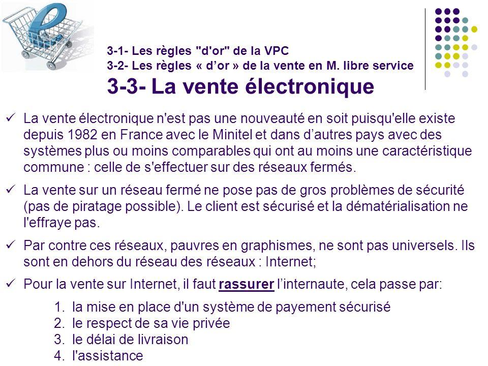 La vente électronique n'est pas une nouveauté en soit puisqu'elle existe depuis 1982 en France avec le Minitel et dans dautres pays avec des systèmes