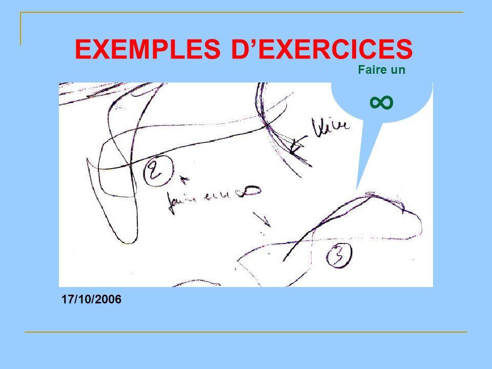 Faire un 17/10/2006 EXEMPLES DEXERCICES
