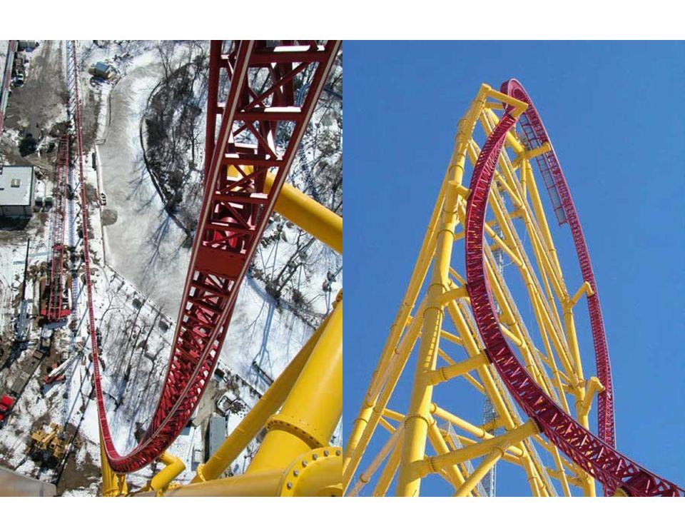 Voici Top Thrill Dragster de Cedar Point, Ohio… Quelques chiffres: Inaugurer en 05-04-2003 Inaugurer en 05-04-2003 Longueur de 853,4 m 128 m de hauteur 128 m de hauteur Son wagon démarre a 121,9 km/h Vitesse maxi: 193,1 km/h (La plus rapide du monde) Vitesse maxi: 193,1 km/h (La plus rapide du monde) 0 - 193 km/h en 4 sec 0 - 193 km/h en 4 sec Coût: 25 millions de dollars US