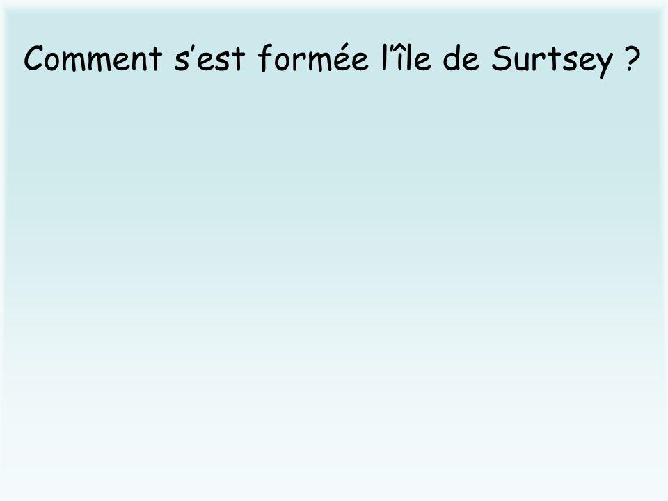 Comment sest formée lîle de Surtsey ?