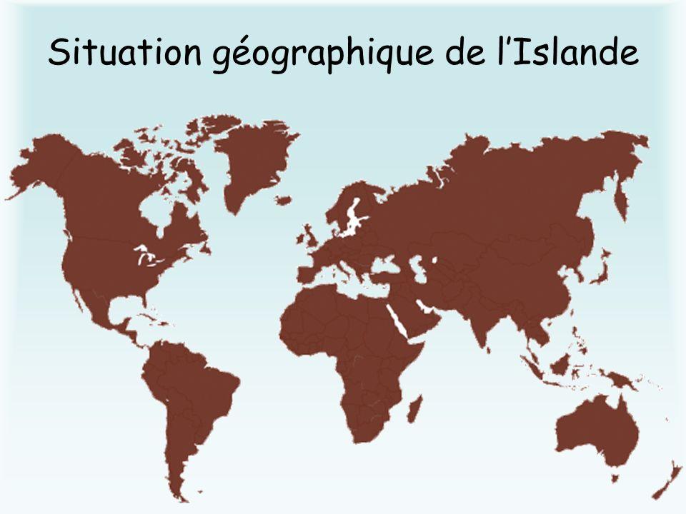 Situation géographique de lIslande
