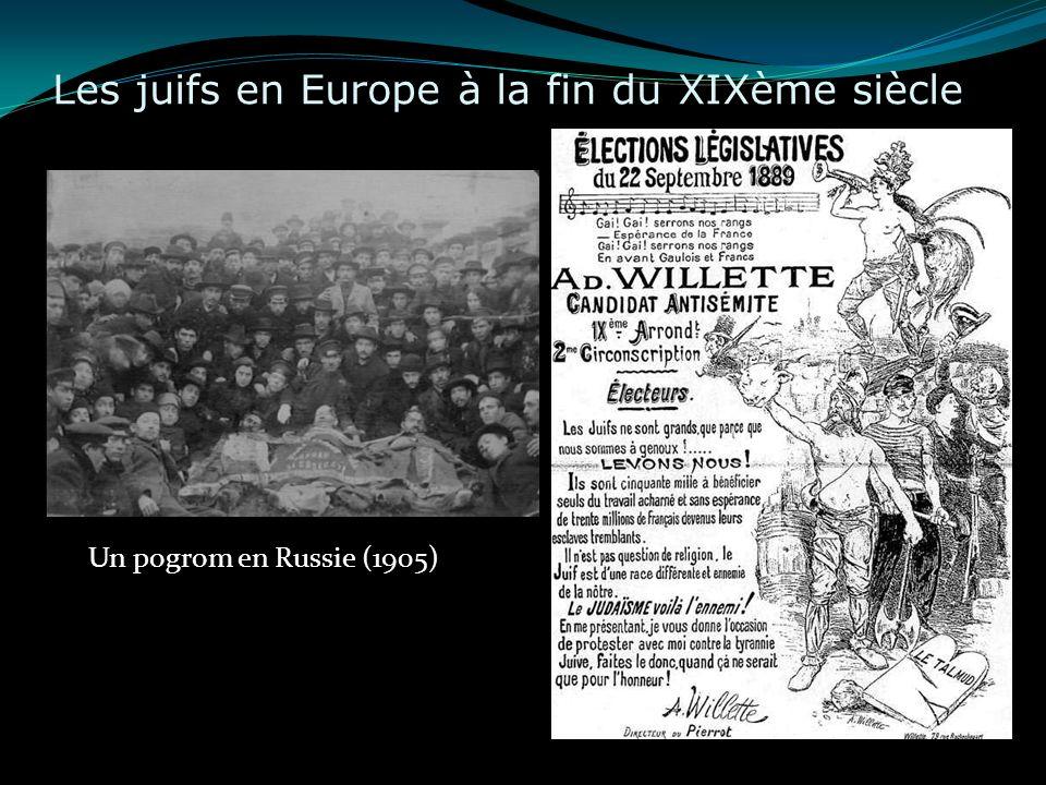 Les juifs en Europe à la fin du XIXème siècle Un pogrom en Russie (1905)