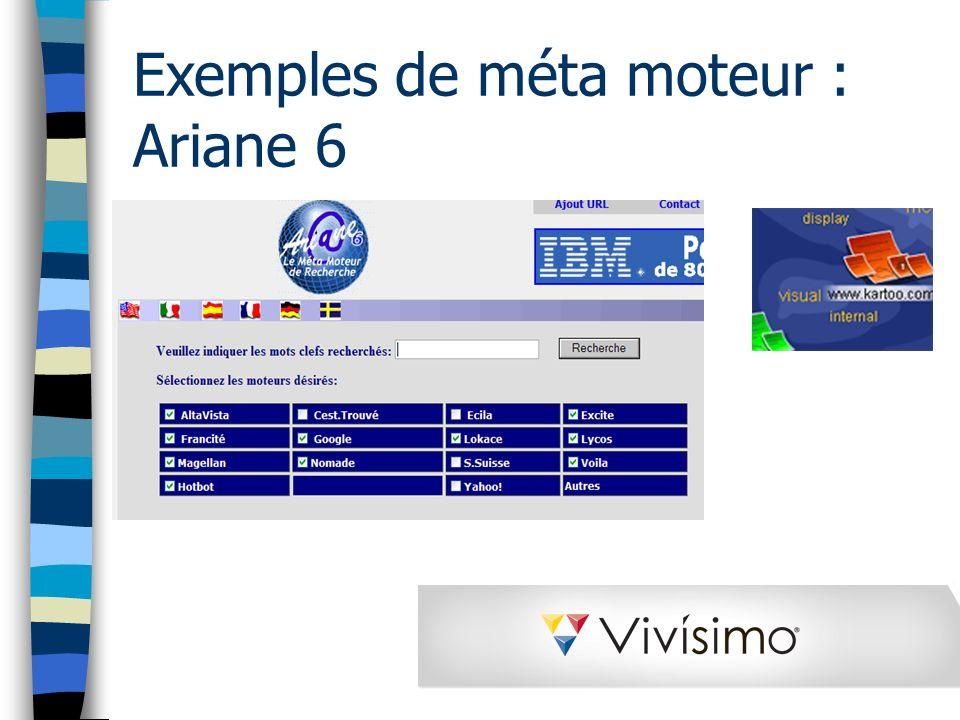 Exemples de méta moteur : Ariane 6
