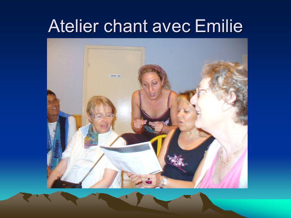 Atelier chant avec Emilie
