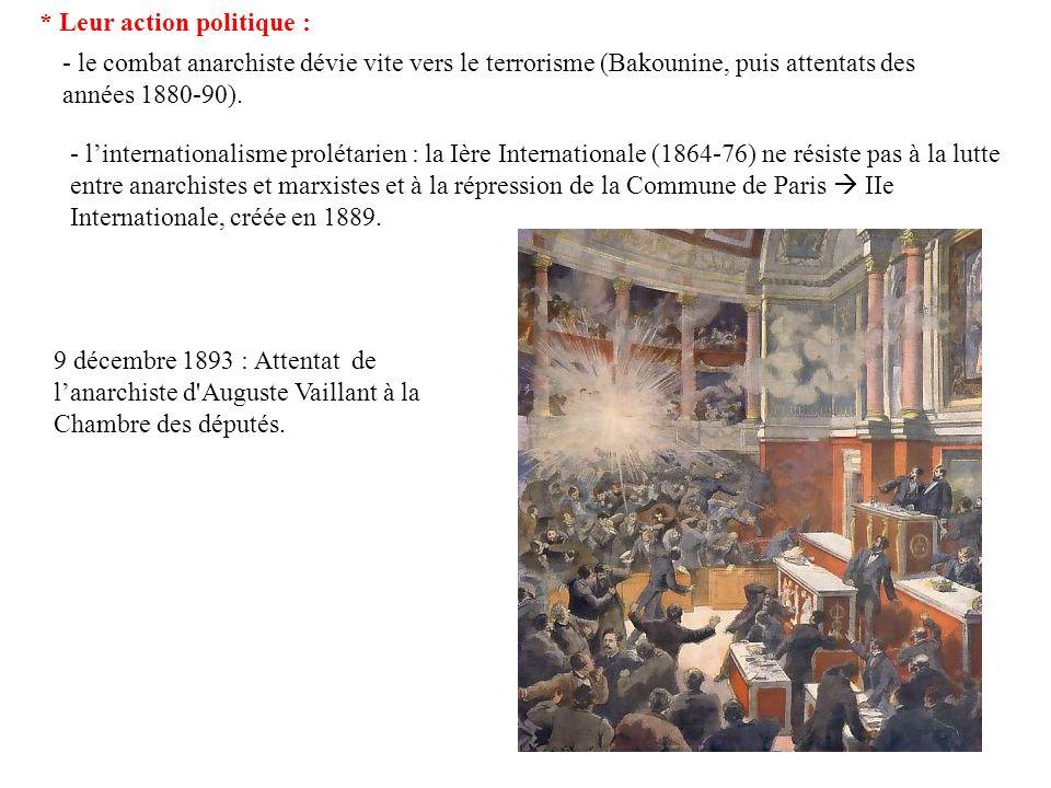 - grâce à lextension graduelle du suffrage universel en Europe, un combat politique légal est possible, sans renoncer au projet révolutionnaire : partis socialistes européens (SPD allemand, Labour Party en 1906) qui se divisent bientôt en « réformistes » et « révolutionnaires ».