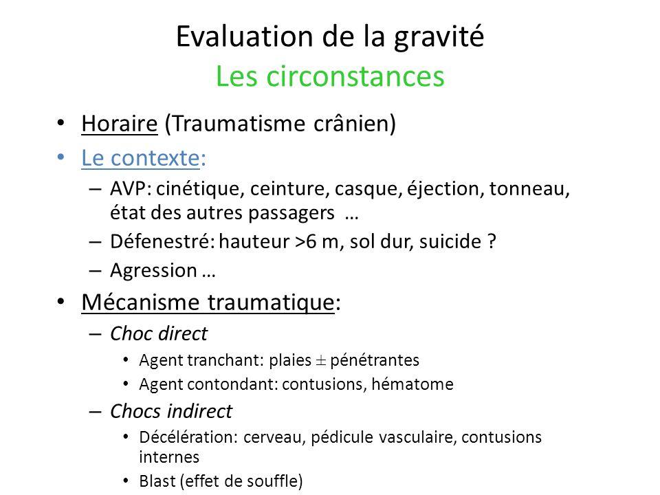 Détresse neurologique Prise en charge initiale des TC grave (GSC 8) Maintenir une PPC : PA +/- PIC Eviter toute hypoxémie Contrôle de la capnie Eviter lhyperthermie et lagitation Indication neurochirurgicale <5% – HED (systématique), HSD (symptomatiques) – Embarrure, plaies cranio-cérébrales Intubation