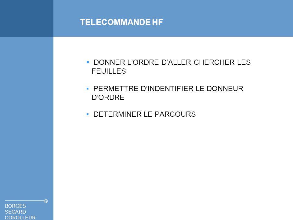 BORGES SEGARD COROLLEUR © TELECOMMANDE HF ALLURE DE LA TRAME PRINCIPE