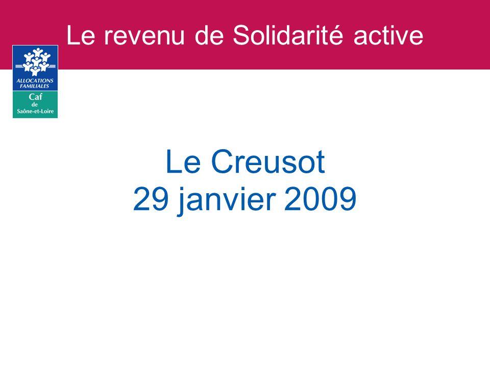 Les objectifs du revenu de Solidarité active Le rSa sera généralisé au 1er juin 2009.