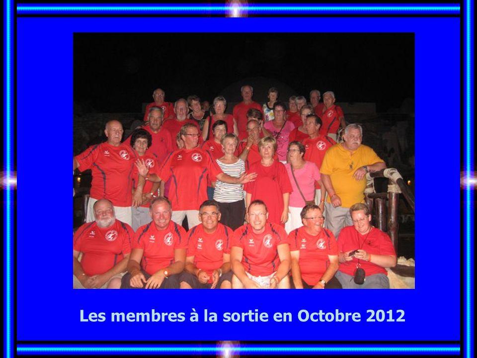 Les membres à la sortie en Octobre 2012