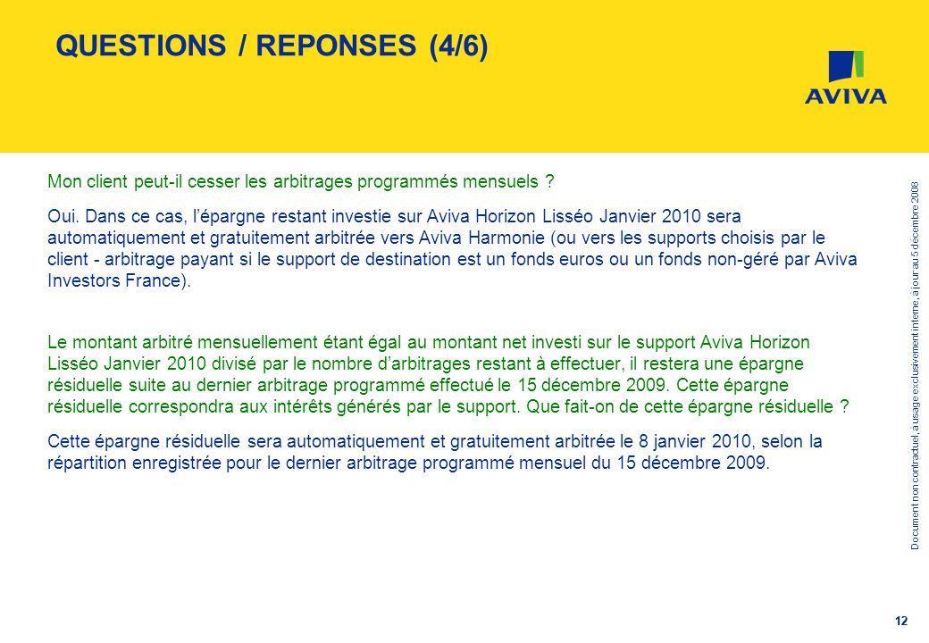 Document non contractuel, à usage exclusivement interne, à jour au 5 décembre 2008 12 QUESTIONS / REPONSES (4/6) Mon client peut-il cesser les arbitra