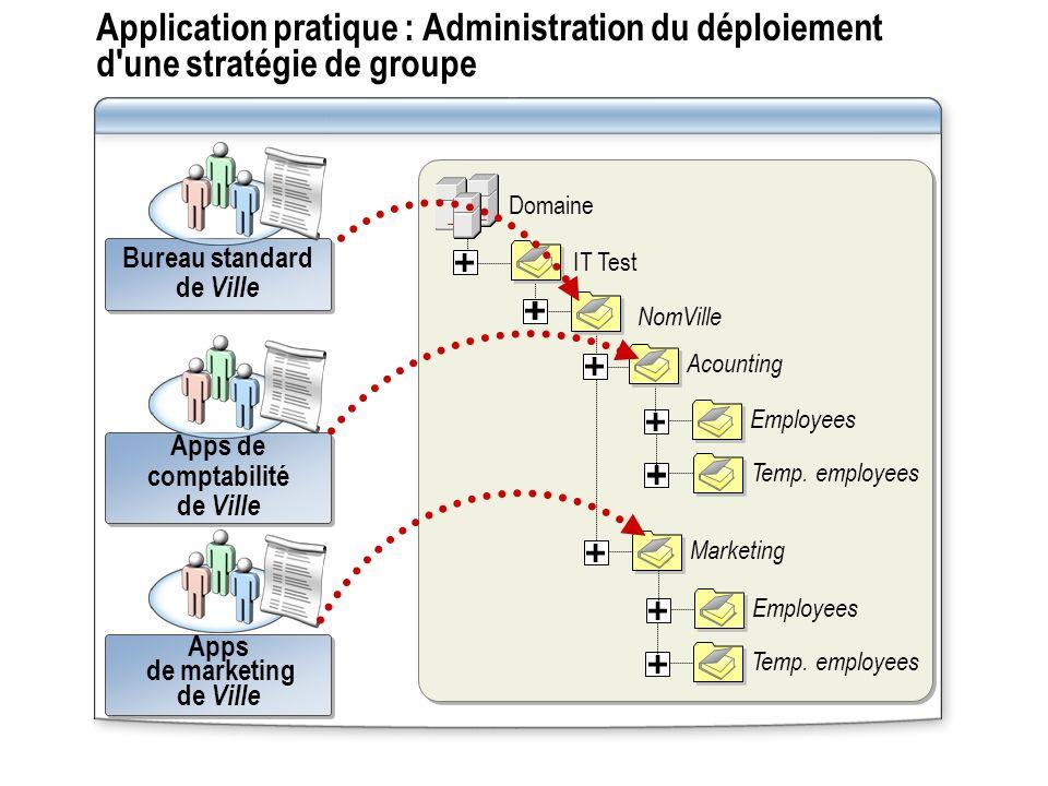 Application pratique : Administration du déploiement d'une stratégie de groupe Bureau standard de Ville Bureau standard de Ville Apps de comptabilité
