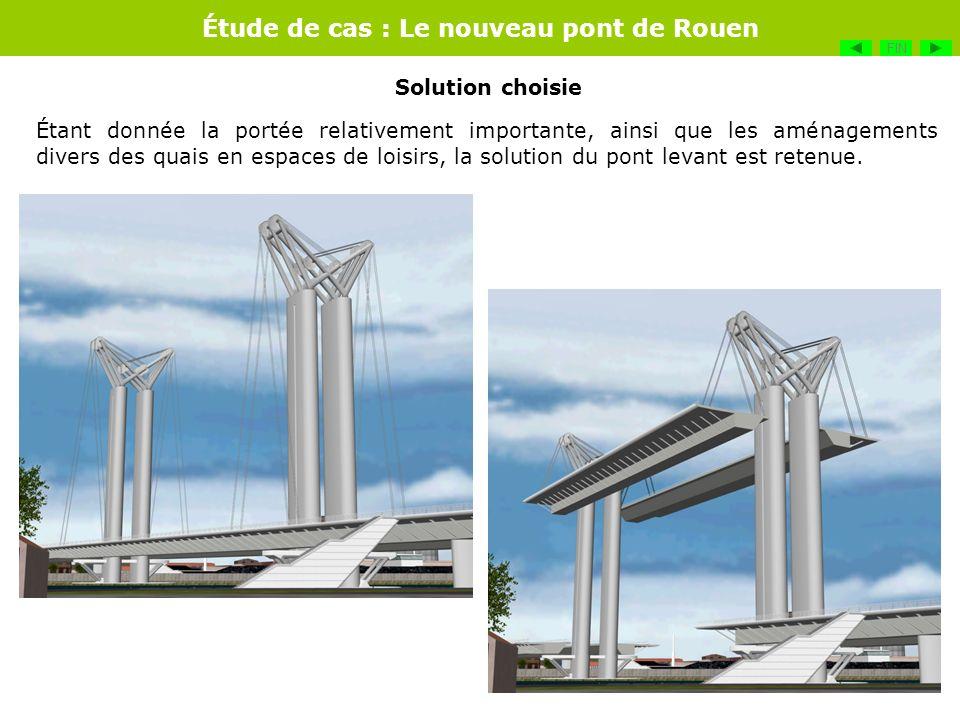 Étude de cas : Le nouveau pont de Rouen Étant donnée la portée relativement importante, ainsi que les aménagements divers des quais en espaces de lois
