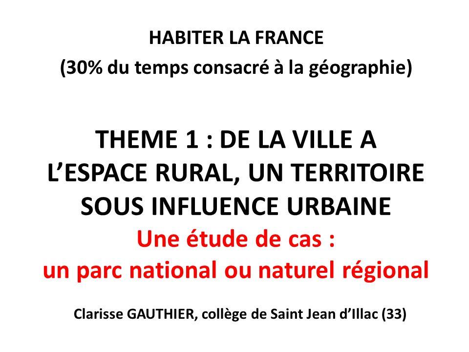 CONNAISSANCES Les aires urbaines La très grande majorité des habitants de la France vit dans une aire urbaine.