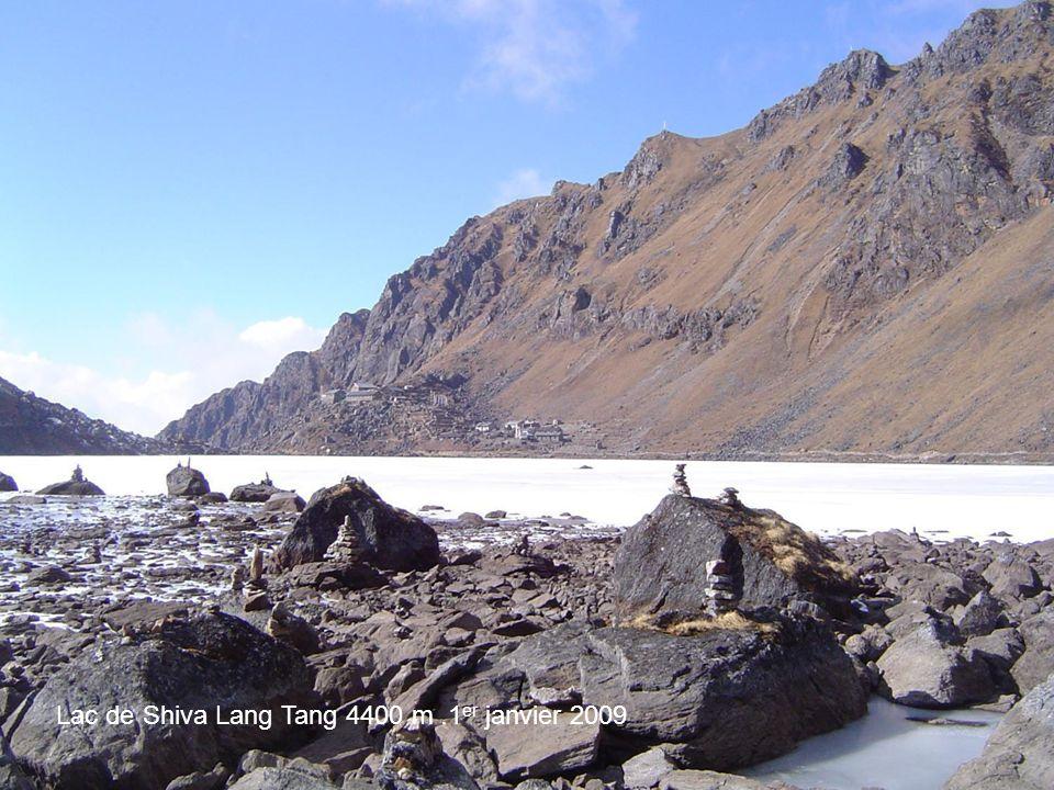 Photo Annie Béghin Lac de Shiva Lang Tang 4400 m.1 er janvier 2009
